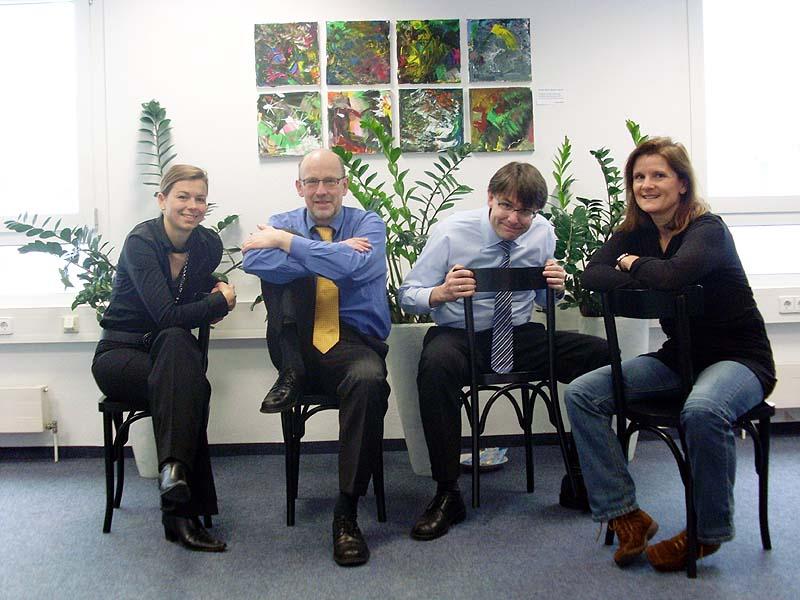 Change Management 2.0-Team (von links): Viola PLoski, Prof. Joachim Niemeier, Tobias Hagemann, Dr. Martina Göhring